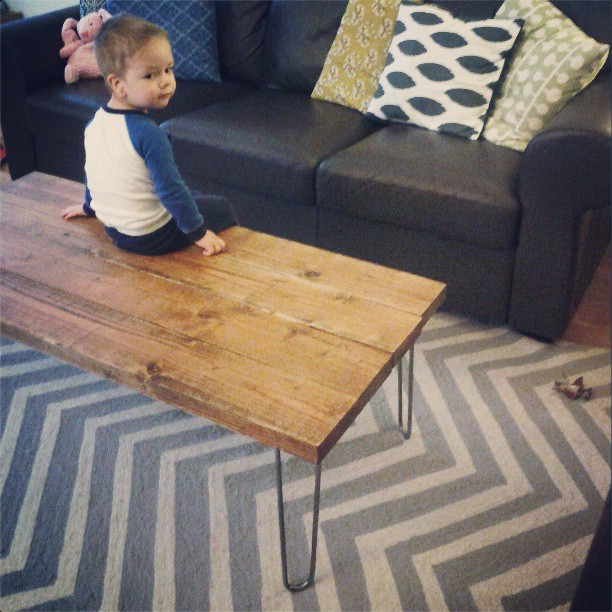 delighted to be » DIY Hairpin Legs Coffee Table